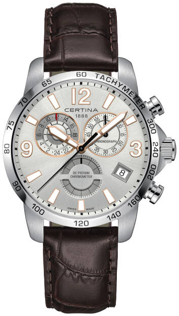 Zegarek Certina, C034.654.16.037.01, Męski, DS PODIUM CHRONOGRAPH GMT, COSC CHRONOMETER
