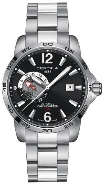 Zegarek Certina, C034.455.11.057.00, MESKI, DS PODIUM GMT, COSC CHRONOMETER
