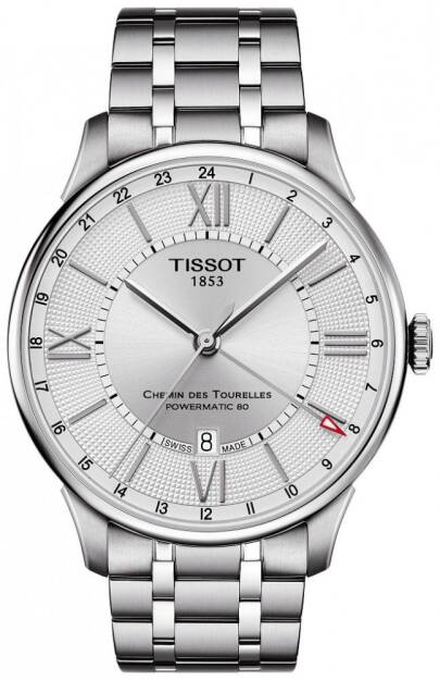 Zegarek Tissot, T099.429.11.038.00, Męski, CHEMIN DES TOURELLES POWERMATIC 80 GMT