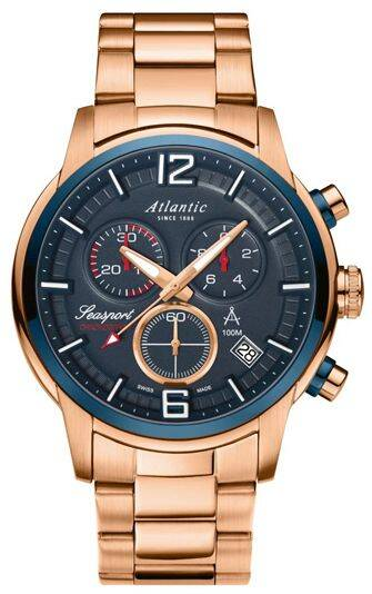 Zegarek Atlantic, 87466.44.55, Męski, Seasport Chronograph