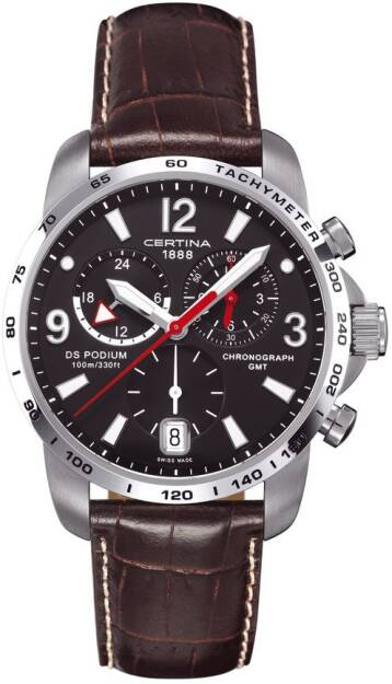 Zegarek Certina, C001.639.16.057.00, DS PODIUM BIG SIZE CHRONO GMT