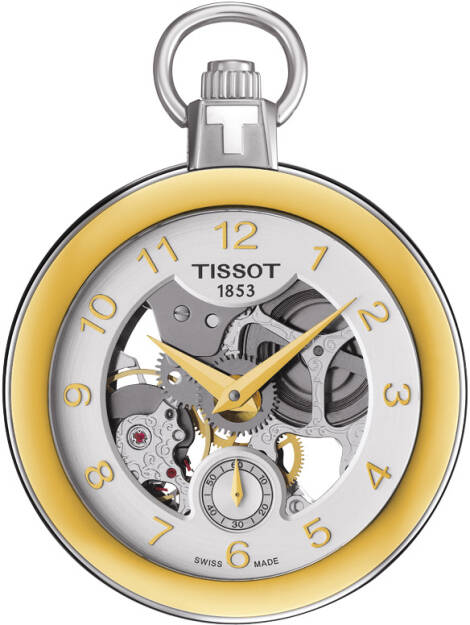 Zegarek Tissot, T853.405.29.412.00, Pocket Mechanical Skeleton